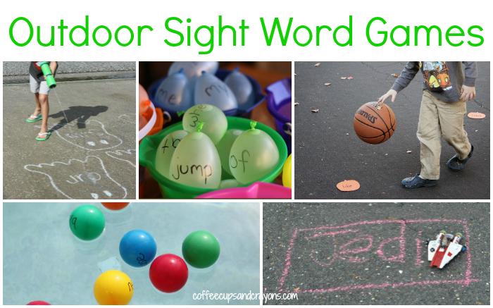 Fun Sight Word Games for Kids to Play Outdoors!