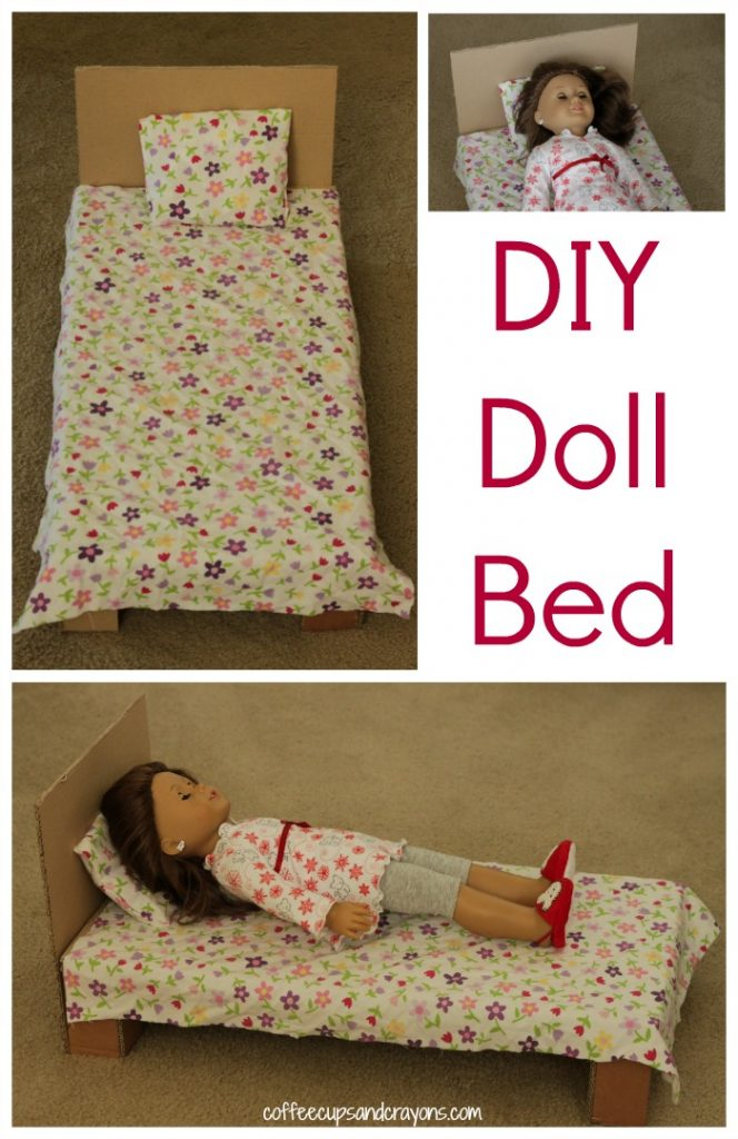 Diy American Girl Doll Bed  Coffee Cups And Crayons-5870