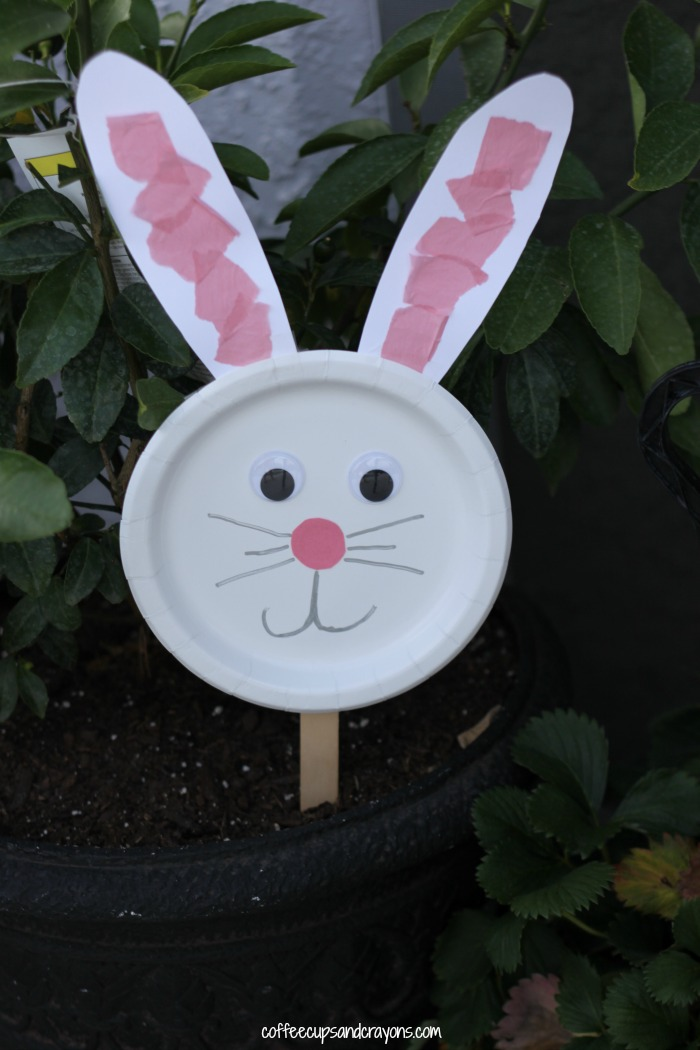 Bunny Paper Plate Puppet Craft Coffee Cups And Crayons