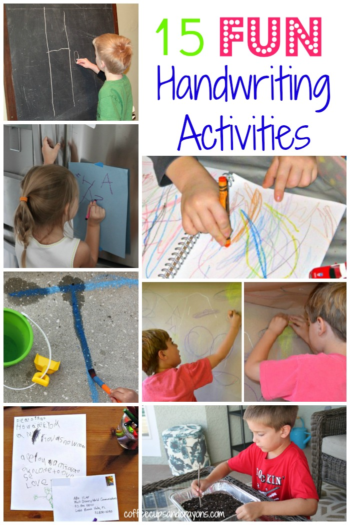 15 FUN Ways to Practice Handwriting!