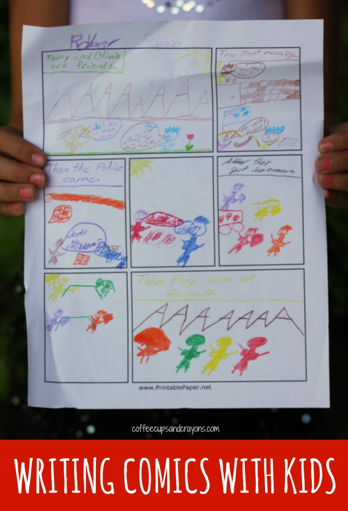 photo about Printable Paper.net known as Producing Comics with Children Espresso Cups and Crayons