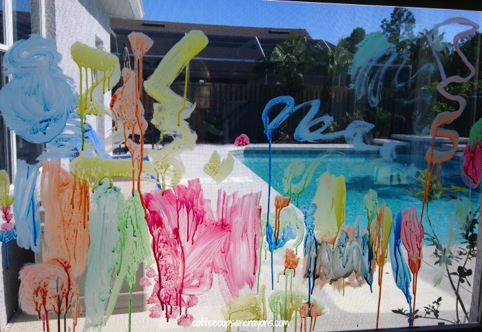 Fun Window Paint Recipe for Kids!