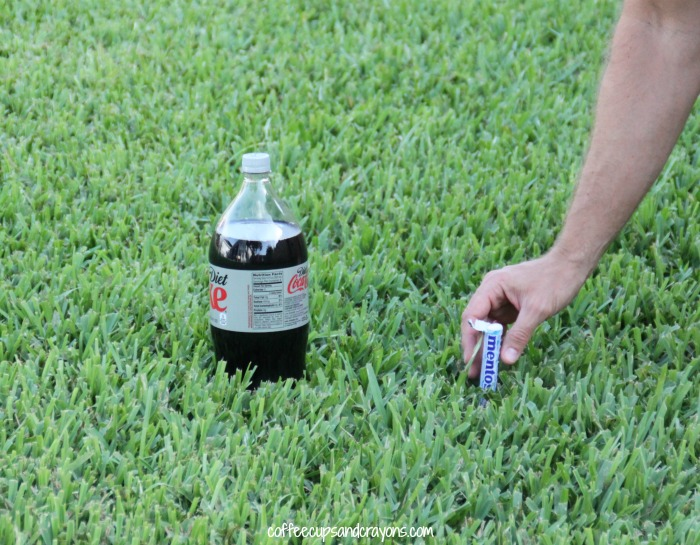 Diet Coke and Mentos Experiment
