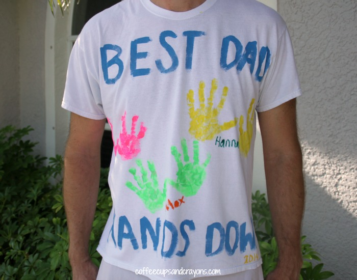 Kids Craft Ideas For Fathers Day Part - 50: Easy DIY Fatheru0027s Day Handprint Shirt For Kids To Make!