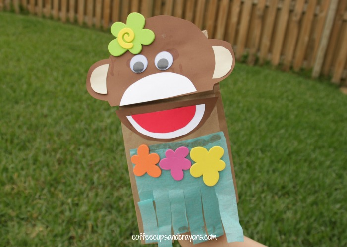 Hula Monkey Luau Kids Craft