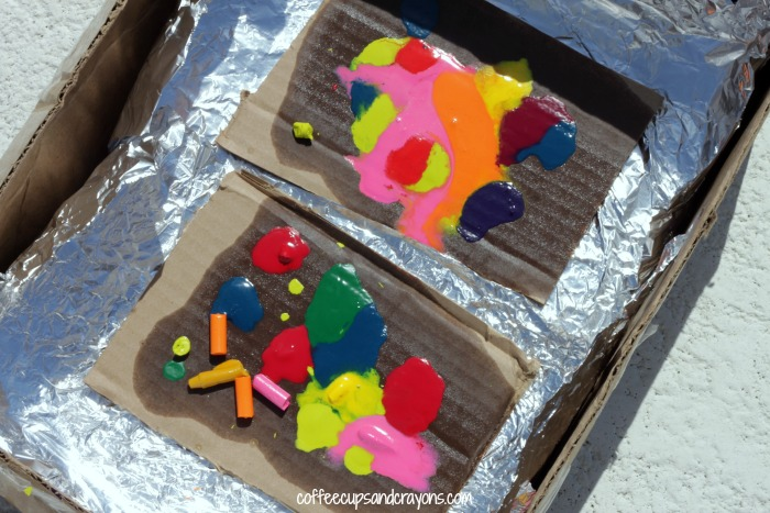 Solar Oven Crayon Art for Kids