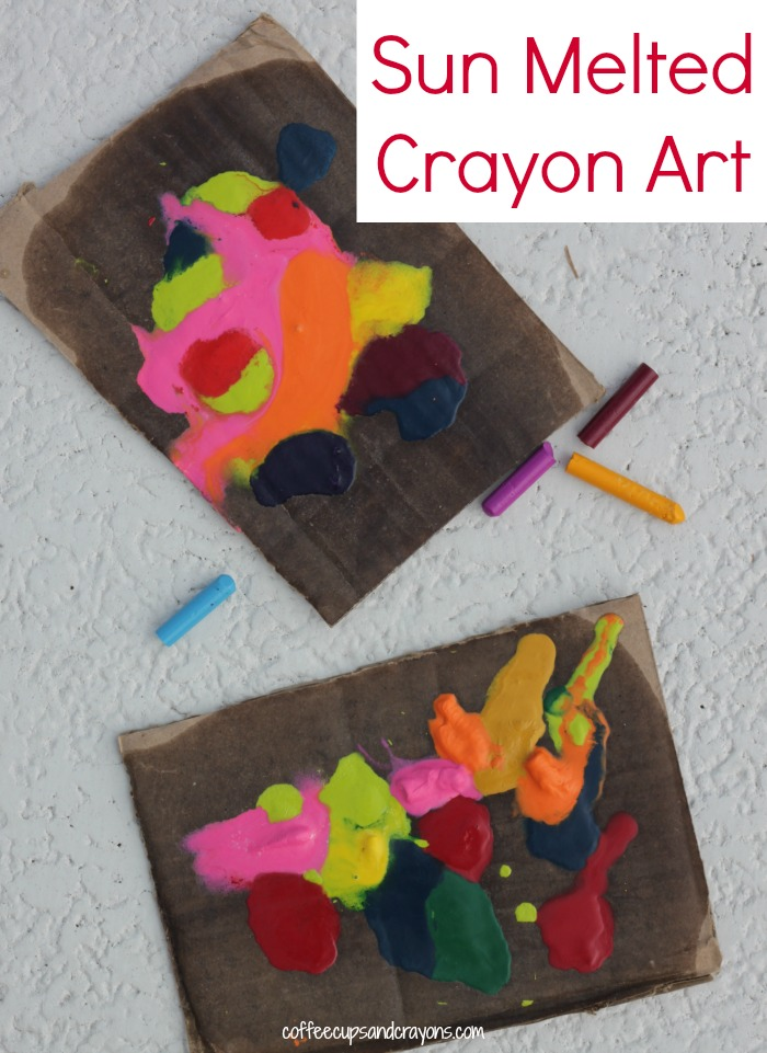 Sun Melted Crayon Art for Kids Inspired by 101 Kids Activities!