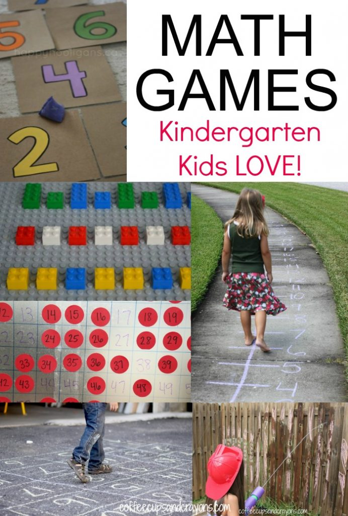 Kindergarten Active Math Games | Coffee Cups and Crayons