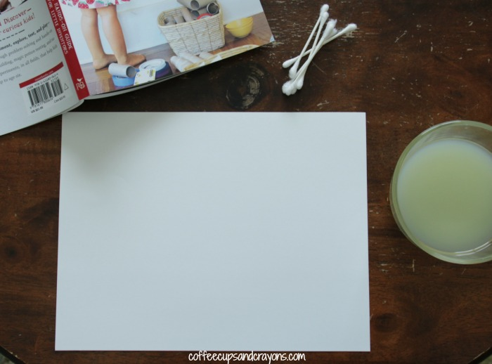 Make Invisible Ink with Lemon Juice