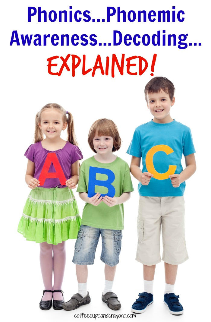 What Does Phonics, Phonemic Awareness and Decoding Mean A Guide for Parents of New Readers!
