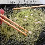 Corn Silk Fine Motor Sensory Play