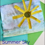 Summer Sky Salt Watercolor Craft