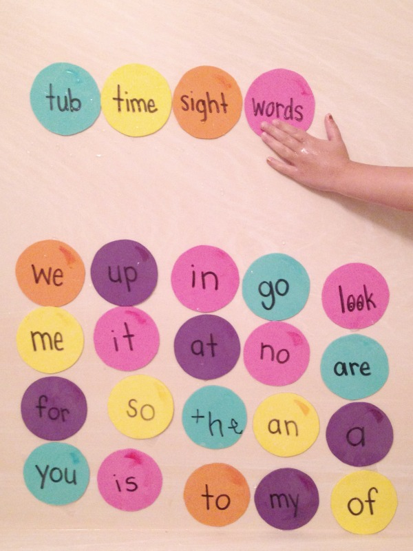 Bath Bubble Sight Words
