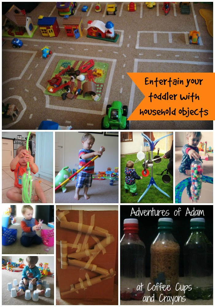Entertain your toddler with household objects