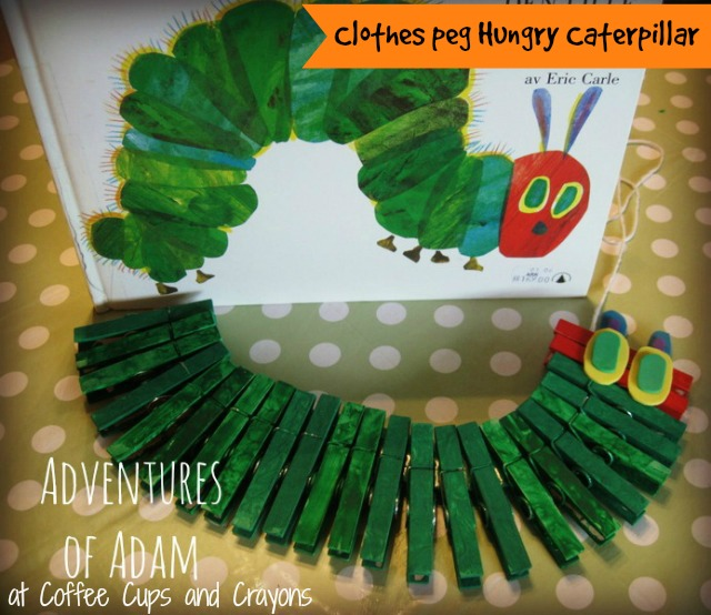Hungry Caterpillar Clothes peg Adventures of Adam