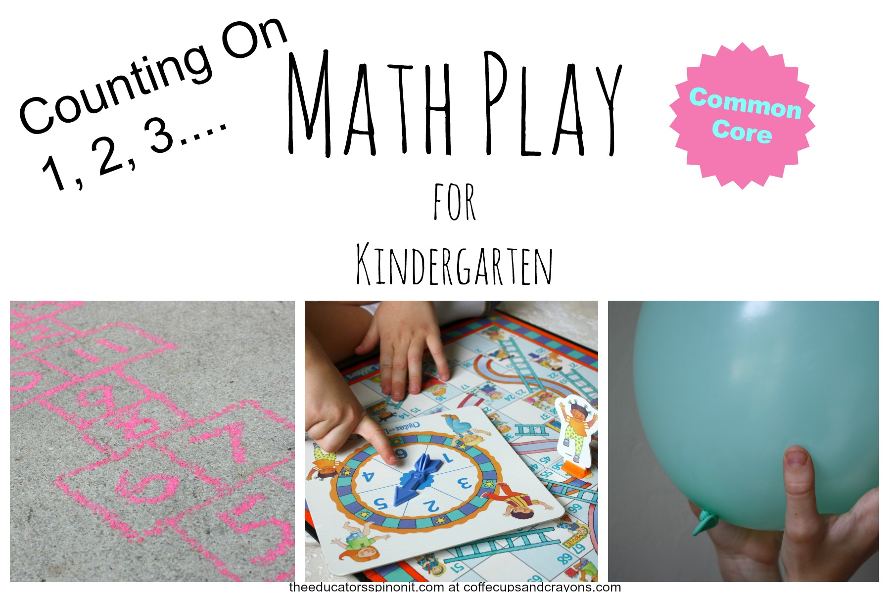 Math Play for Kindergarten {Counting On} | Coffee Cups and Crayons