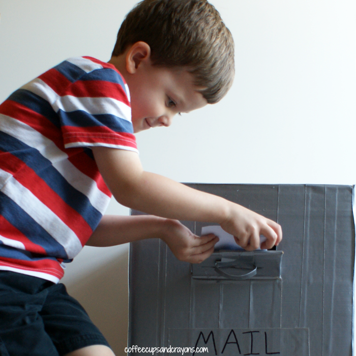 DIY Mail Box and Letter Writing Practice