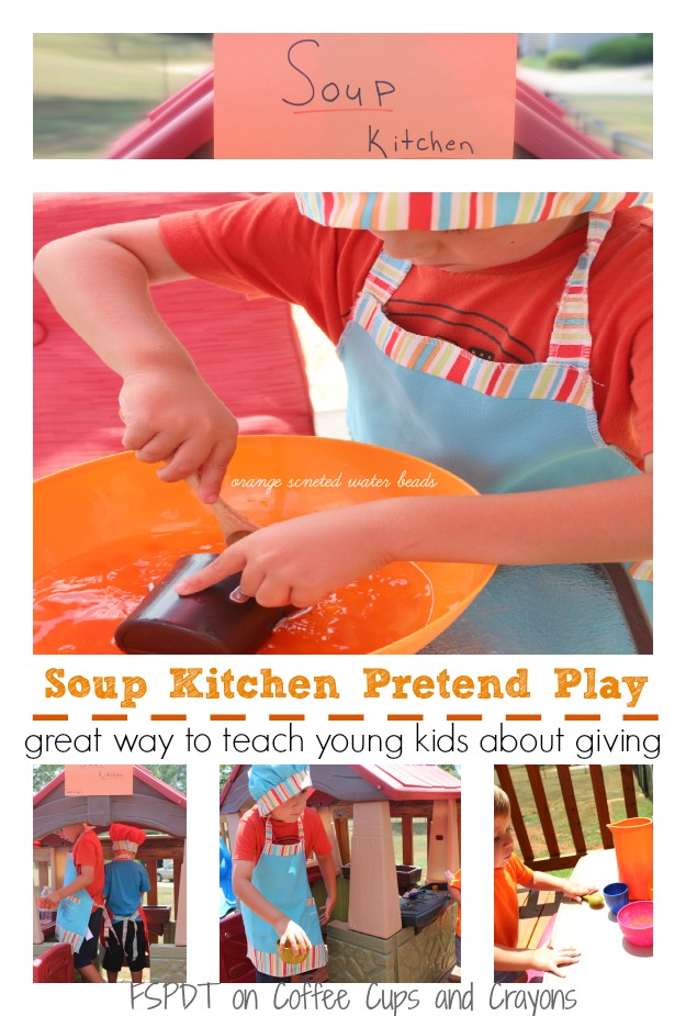 Soup Kitchen Pretend Play--teach kids about empathy and service!