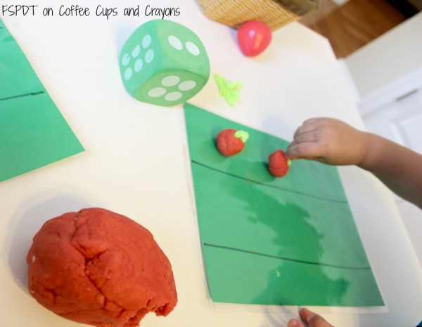 Strawberry Play Dough Counting Activity