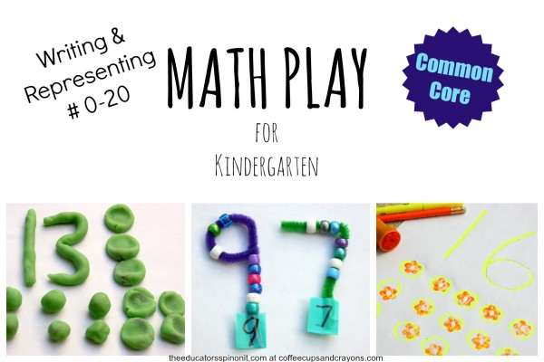 Math Play for Writing and Representing Numbers