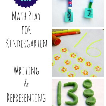 Math Play for Kindergarten Learning to write and represent numbers 0-20