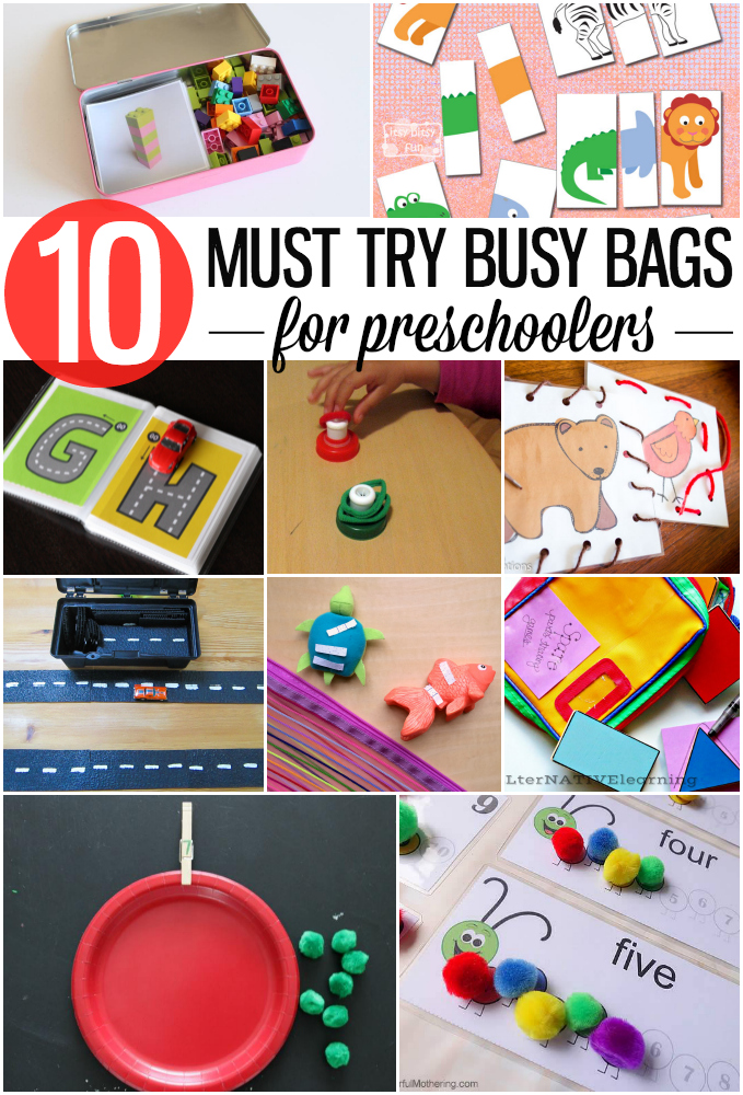 10 Must Try Busy Bags for Preschoolers!