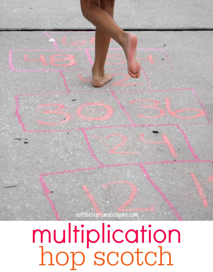 Learn Multiplication Facts with Hop Scotch! Or should we call it skip-scotch!! Either way it's a fun way to practice math facts!