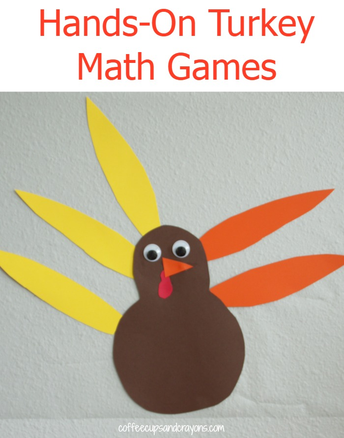 Hands-On Turkey Math Games for Kids! So simple to set up!