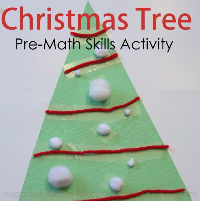 Christmas Tree Preschool Math Activity