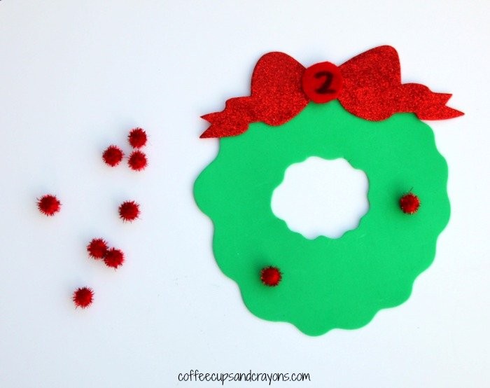 Simple Christmas Counting Busy Bag for Preschool Kids!