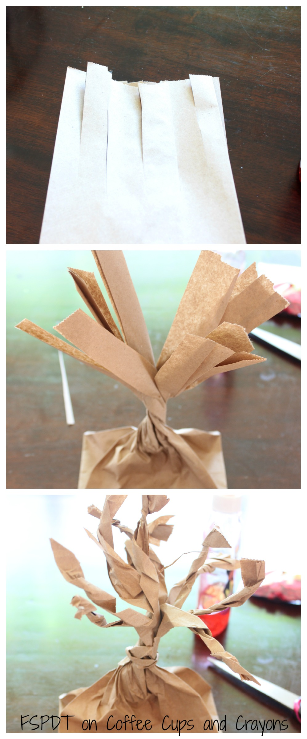 Paper Bag Tree Craft for Kids