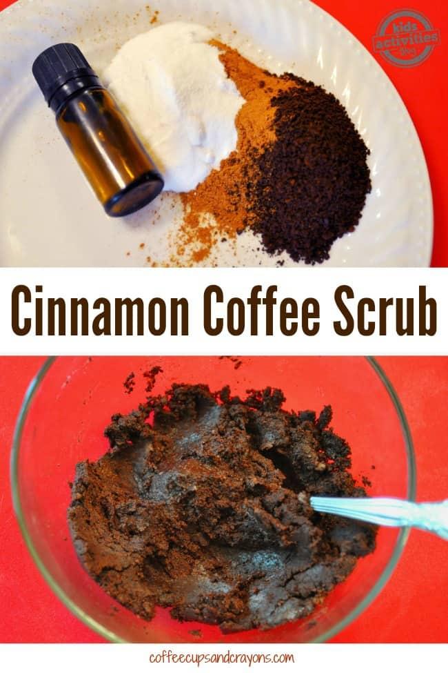 Homemade Cinnamon Coffee Scrub with Essential Oils....SO GOOD!