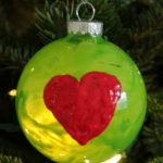 Grinch's Heart Christmas Ornament