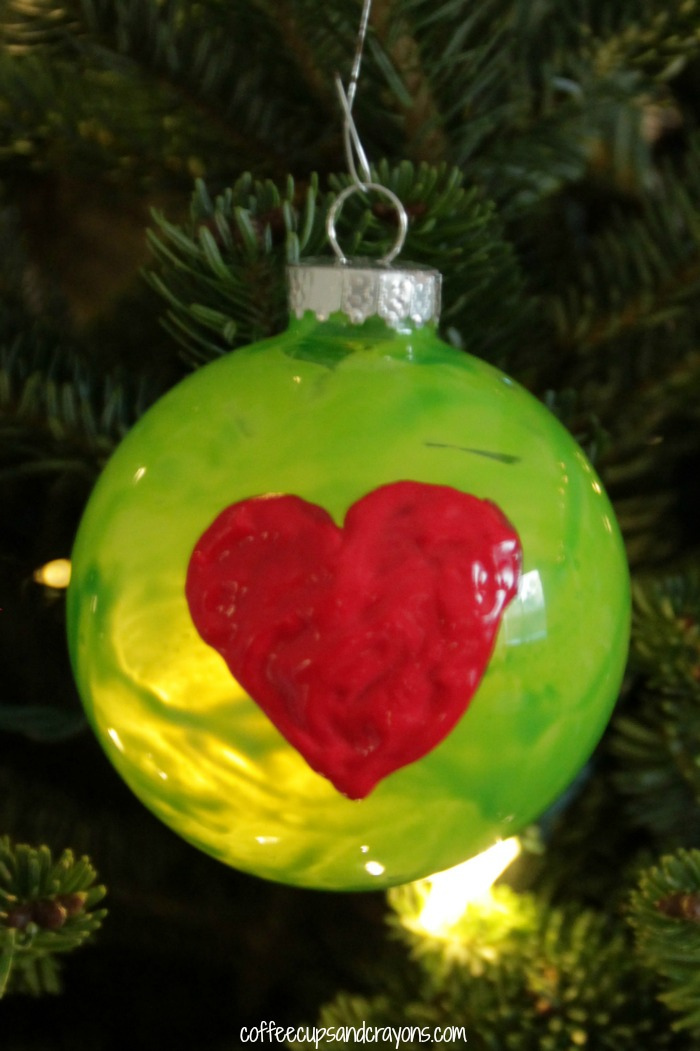 Grinch S Heart Christmas Ornament Coffee Cups And Crayons