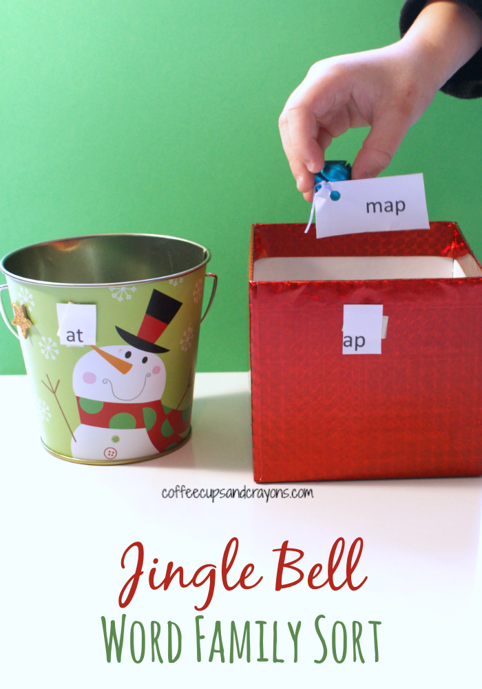 Jingle Bell Word Family Sort Christmas Reading Activity for Kids!