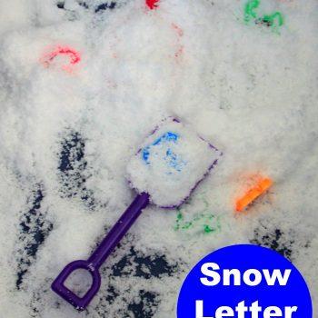 Preschool Letter Hunt in Pretend Snow