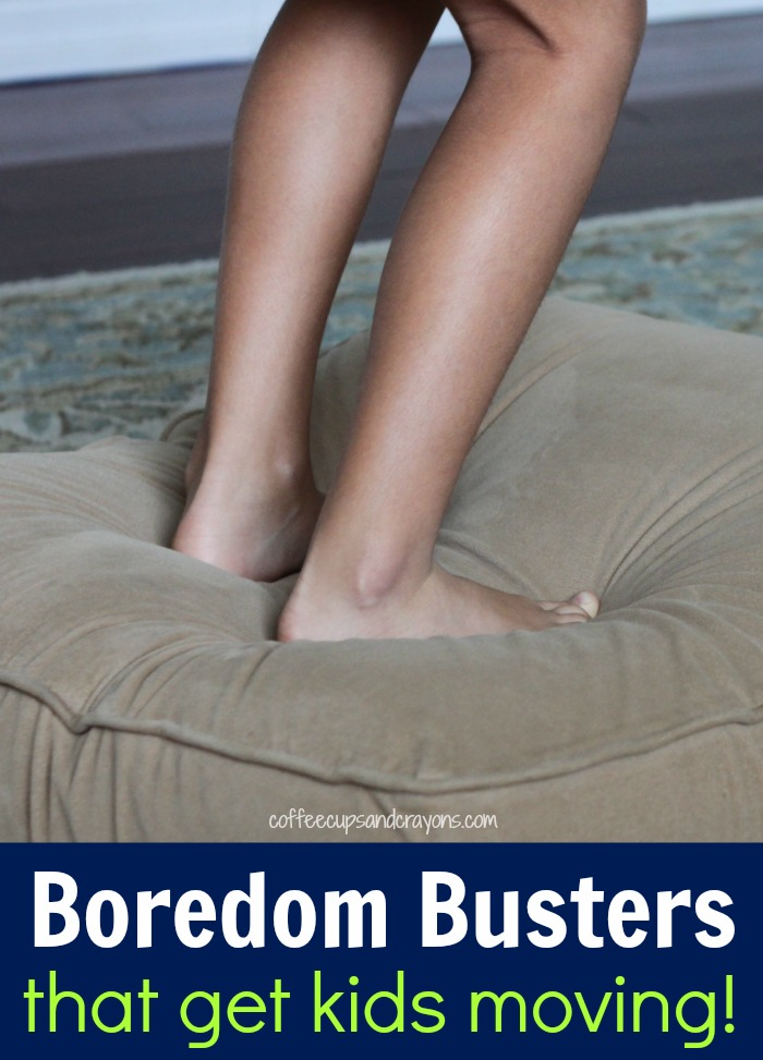 Simple Boredom Busters that Get Kids Moving! Fun indoor activities for kids of all ages!