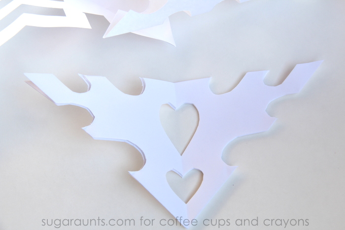 Snowflake Cutting and Shape Activity for Kids