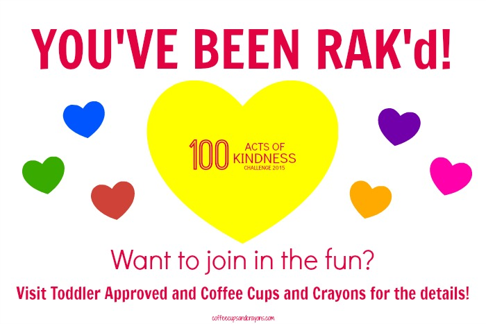 Random Acts of Kindness Challenge and Free Printable RAK'd cards!