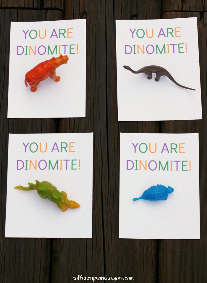 You Are DINO Mite Free Printable Valentines For