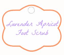 lavender apricot foot scrub