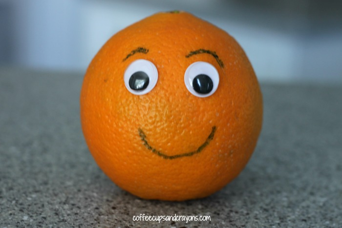 Make an Orange Person Edible Craft! A yummy and fun preschool snack!