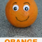 Orange Craft and Snack for Preschool
