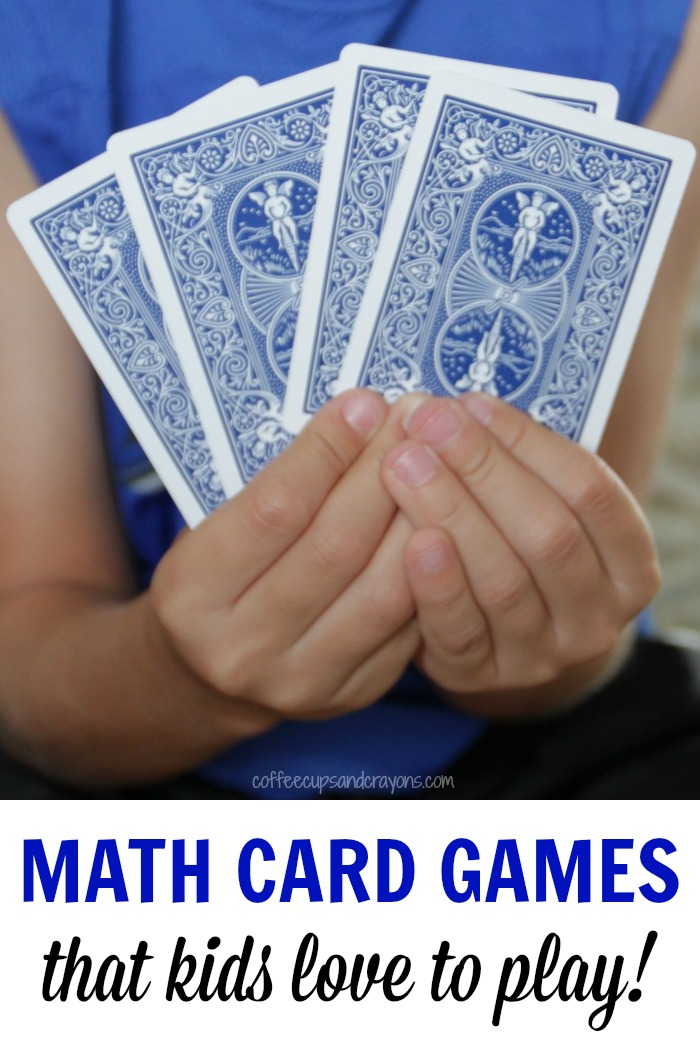 Simple Math Card Games for Kids | Coffee Cups and Crayons