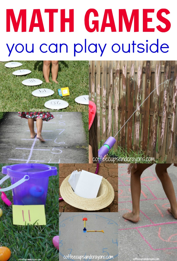 Outdoor Math Games for Kids | Coffee Cups and Crayons