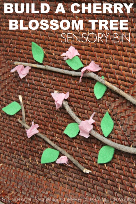 Make a Build a Cherry Blossom Sensory Bin