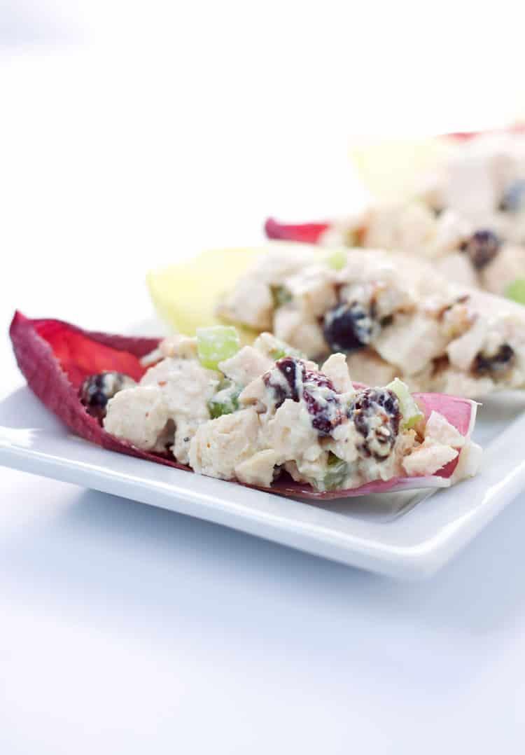Chicken Salad in Envdive Spears