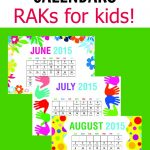 Printable Random Acts of Kindness Calendars