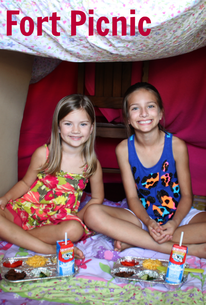 Have a Picnic in a Homemade Fort! Such a fun way to make your kids' day!