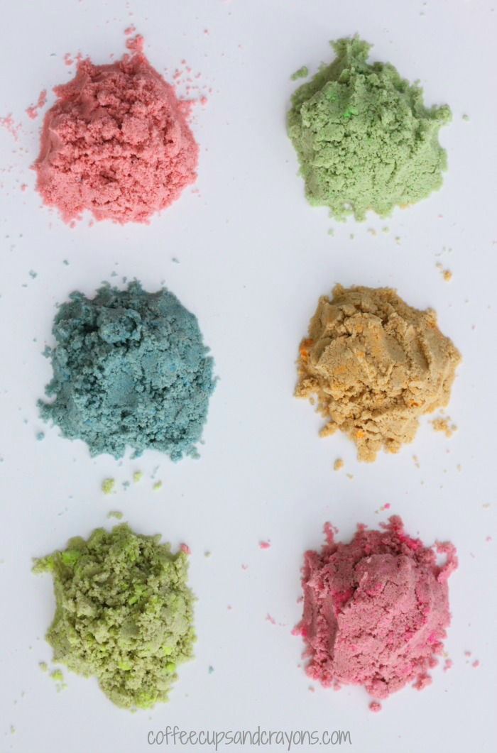 How to color sand for art and sensory play! So much easier than you think!